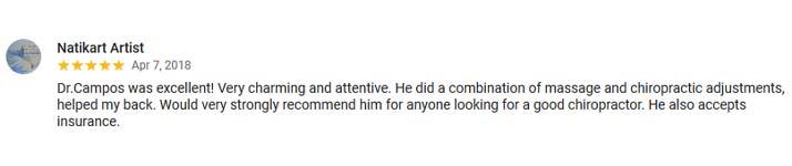 Chiropractic Washington DC Google Review